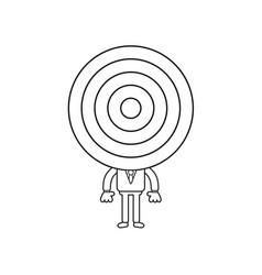 Businessman character with bulls eye head black vector