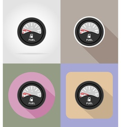 Car equipment flat icons 13 vector