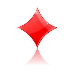 card suit diamond vector image