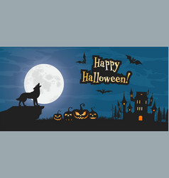 cartoon halloween background vector image