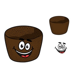 Cartoon rye brown bread vector image