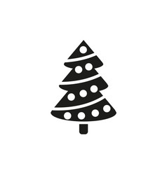Christmas tree icon new year and xmas christmas vector