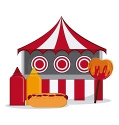 Circus elements design vector