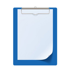 Clipboard with white sheet 3d vector