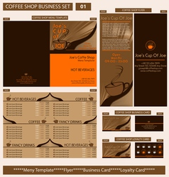 coffee shop business template vector image