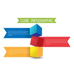 Cube Color Info Graphic Template vector image