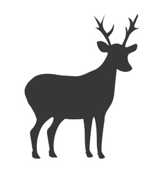 deer shadow side view graphic vector image