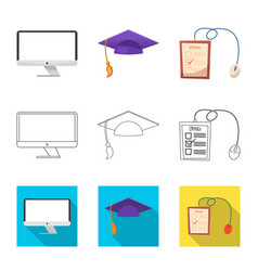 Design of education and learning logo set vector