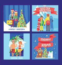 different people family and friends christmas vector image