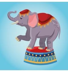 Elephant cartoon of circus vector