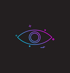 eye eyeball look search spy vision icon desige vector image