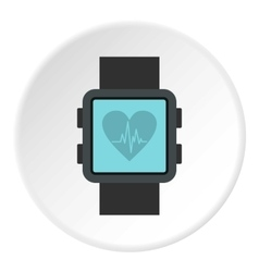 Fitness smart watch icon flat style vector image