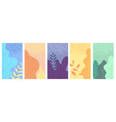 flat minimal landscape smartphone vibrant vector image