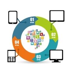 Gadgets mobile apps design vector