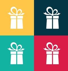 Gift box icons vector