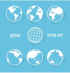 globe icon set modern flat style vector image