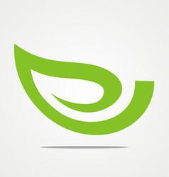 Green leaf beauty logo vector