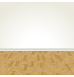 Hardwood floor and blank wall vector
