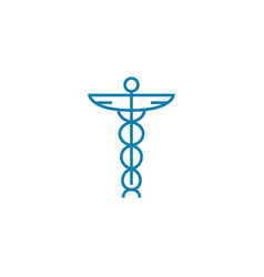 health care system linear icon concept health vector image