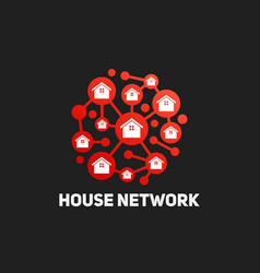 house group network technology connection vector image