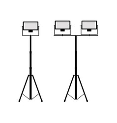 Icons of twin and divided searchlights vector