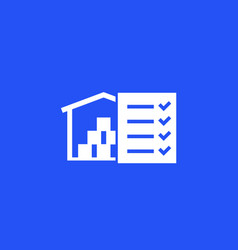 Inventory warehouse and logistics icon vector