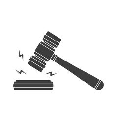 judge wood hammer vector image