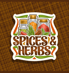 logo for spices and herbs vector image