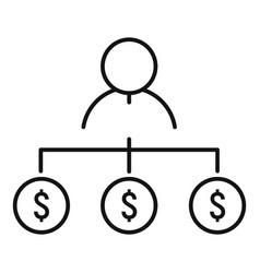 Money scheme millionaire icon outline style vector