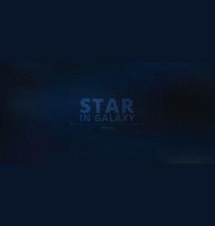 night shining starry in galaxy on dark blue vector image