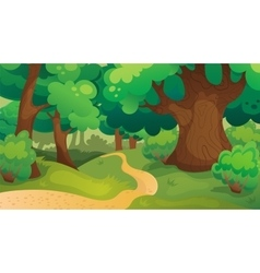 Oak Forest Game Background vector