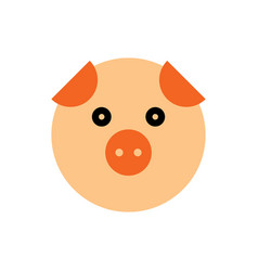 pig cartoon animal head vector image
