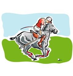 polo player vector image