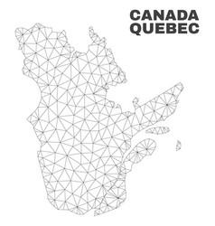 Polygonal mesh quebec province map vector