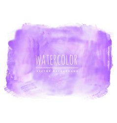 Purple real watercolor stain background vector