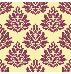 Retro maroon crimson or dark red seamless pattern vector image