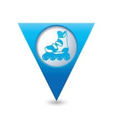 Rollerskates BLUE triangular map pointer vector