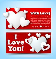 romantic decorative horizontal banners vector image