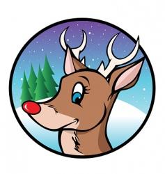 Rudolph reindeer cartoon vector image