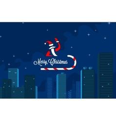 Santas in town vector image
