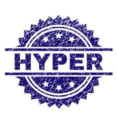 Scratched textured hyper stamp seal vector