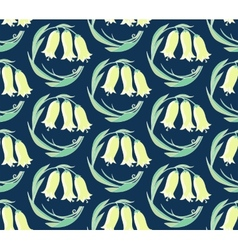 seamless pattern of flowers bells vector image