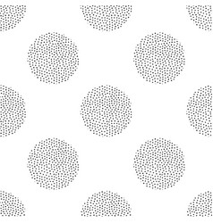 seamless pattern with round dotted elements vector image