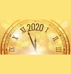 Shiny 2020 new year poster christmas celebration vector