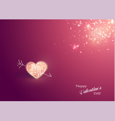 shiny heart soft beautiful background vector image