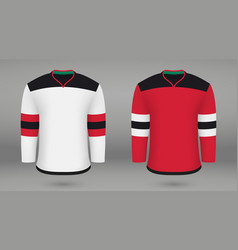 Shirt template forice hockey jersey vector