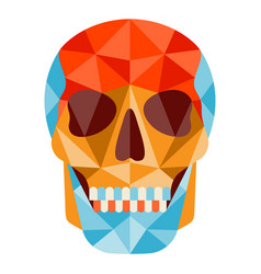 Skull icon in abstract style vector