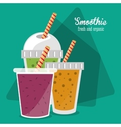 Smoothie drink glass design vector