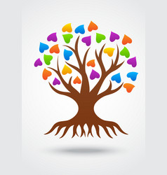 stylized love tree made hearts vector image