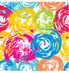 summer bright grunge seamless pattern vector image